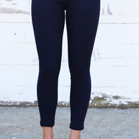 Basic Jegging {Navy}