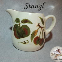 Stangl Vintage Pottery Orchard Song Pitcher