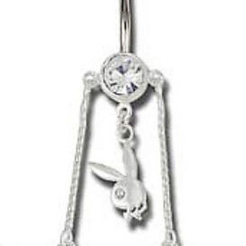 14g (1.6 mm), Surgical Steel Dangling Navel Belly Button Ring