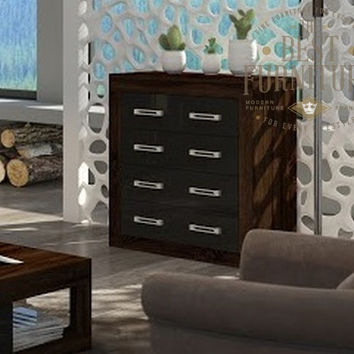 Modern Chest of 4 Drawers Storage Unit -Matt or High Gloss Bedroom or Living Room Furniture