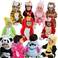 New born Animal Baby Romper Infant Long-sleeve Hooded Cotton Toddler Romper Costume Kids Clothes Cute Baby Animal Romper