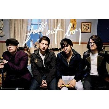 (24x36) Fall Out Boy (Group, Sitting) Music Poster Print