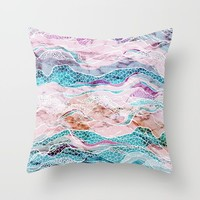Making Waves Throw Pillow by rskinner1122