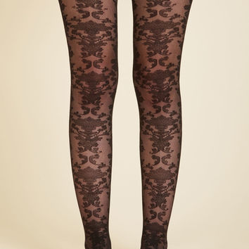Ornate Got the Time Tights | Mod Retro Vintage Tights | ModCloth.com