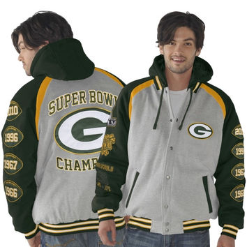 Green Bay Packers Rookie of the Year Super Bowl Champions Commemorative Jacket - Ash/Green