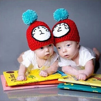 Thing 1 & Thing 2 Matching Crochet Twin Set Hats