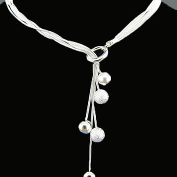 Free shipping Silver fashion Necklace