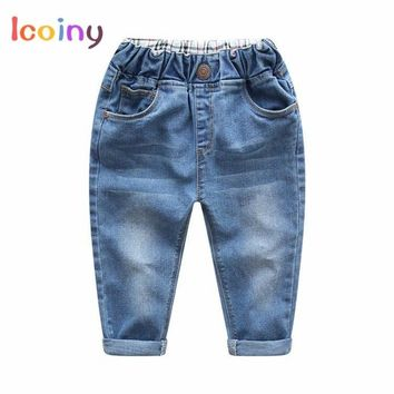 Boys Solid Jeans Pants 2018 New Kids Baby Boys Trousers Girls Jeans Children Toddler Denim Pants Baby Casual Jean Infant Boys