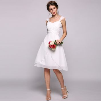 Plus Size White Sweetheart Kneelength Party Dress