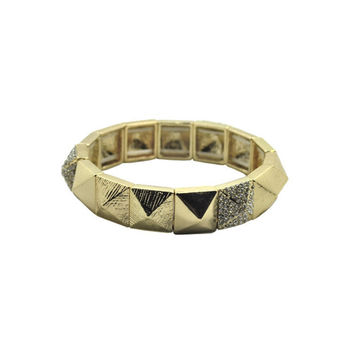 Gold Mini Pyramid Bracelet