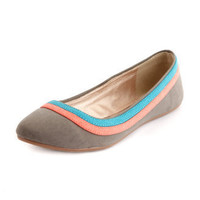 Color Block Almond-Toe Flat