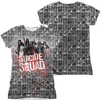 Suicide Squad Splatter Sublimated Juniors T-Shirt