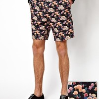 ASOS Slim Fit Shorts In Floral Print