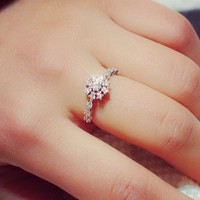 Jewelry New Arrival Shiny Gift Korean Stylish Couple Ring [11372236308]