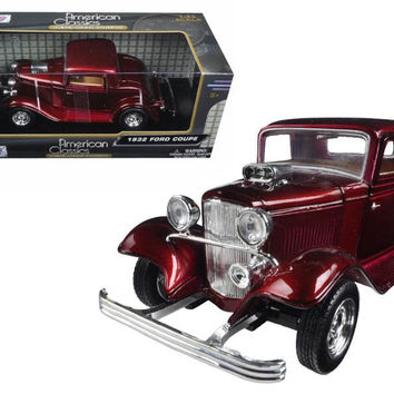 1932 Ford Coupe Burgundy 1-24 Diecast Model Car by Motormax
