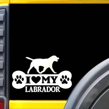 Labrador Bone Sticker L022 8 inch lab retriever decal