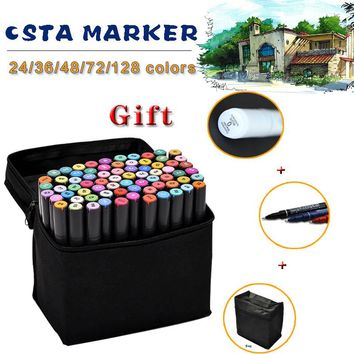 Factory Supplier Optional Colors Art Marker Double Headed Sketch Marker Pen Set Painting Sketch Art Copic Marker Pens