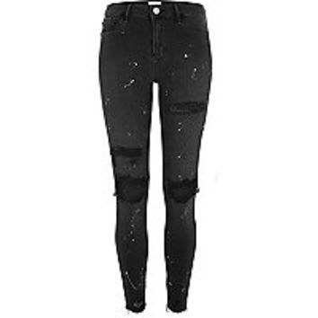 Black washed paint splattered Molly jeggings - jeggings - jeans - women