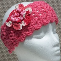 "COTTON SUMMER HEADBAND ""CANDY"" PINK"