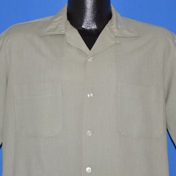 50s McGregor Loop Collar Button Down Men's shirt Medium