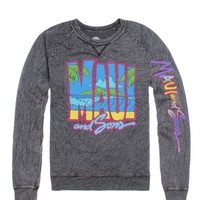 Maui & Sons Rippin Waves Crew Fleece - Mens Hoodie - Black