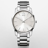 city stainless steel silver dial watch | Calvin Klein