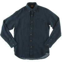 Tailor Vintage Mens Linen Long Sleeves Button-Down Shirt