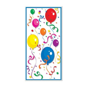 "Beistle Party Decoration Balloons & Confetti Door Cover 30"""" x 5'- Pack of 12"