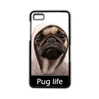 New Design Funny Hilarious Pug Life Parody fans For Blackberry Z10/Blackberry Z30/Blackberry Q10 Phone case ZG