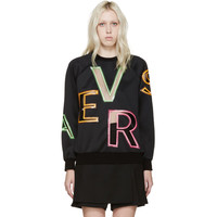Black Cut-Out Letters Sweatshirt