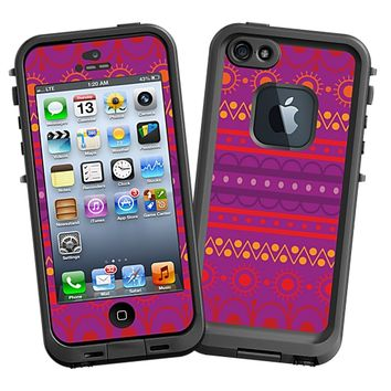 Purple Tribal Skin for the iPhone 5 Lifeproof Case by skinzy.com