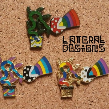 Mario Rainbow Piranha Pin