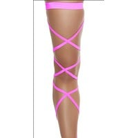 Neon Pink Solid Leg Wraps
