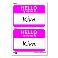 Kim Hello My Name Is - Sheet of 2 Stickers