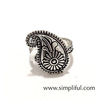 Oxidized Mango adjustable Finger ring