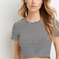 Micro-Stripe Ribbed Tee