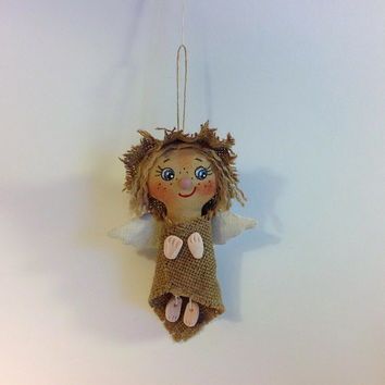 Little Doll Doll Angel Soft Doll Angel gift Cloth art doll OOAK doll Textile doll Stuff doll Little Angel Rag doll Art doll Doll handcrafted