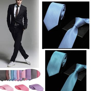 2018 new 7 cm Width Mens Ties  for Men Neckwear Polka Men Tie Dot Skinny Silm Men Necktie Wedding Party Ties YJC0006