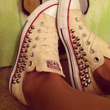 custom fully studded buttercream converse all star chuck taylors all sizes colors