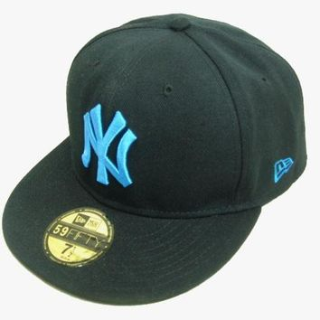 LMFON New York Yankees New Era MLB Authentic Collection 59FIFTY Cap Black-Blue