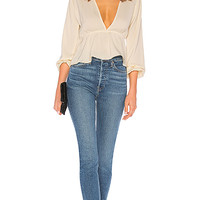 superdown Skylar Deep V Top in Cream | REVOLVE