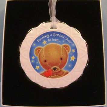 2002 Celebrating Adoption Hallmark Keepsake Porcelain Ornament