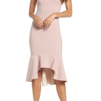 Maria Bianca Nero Christy Flounce High/Low Slipdress | Nordstrom