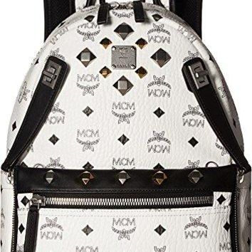 MCM Unisex Dual Stark Small Backpack