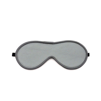 After Dark Leather Blindfold - Grey