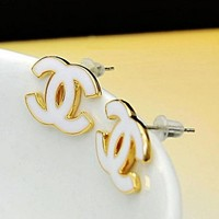 cc logo earrings