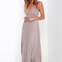 Depths of My Love Taupe Maxi Dress