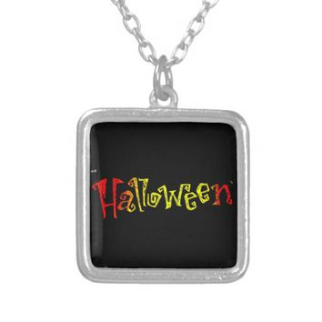 Halloween Silver Plate Necklace