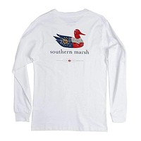 Authentic Georgia Heritage Long Sleeve Tee in White by Southern Marsh