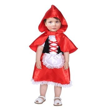 Cool Umorden Carnival Party Halloween Costumes Toddler Baby Little Red Riding Hood Costume Cosplay for Baby Girl Fancy DressAT_93_12